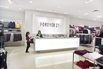 new mall retail store construction - Forever 21
