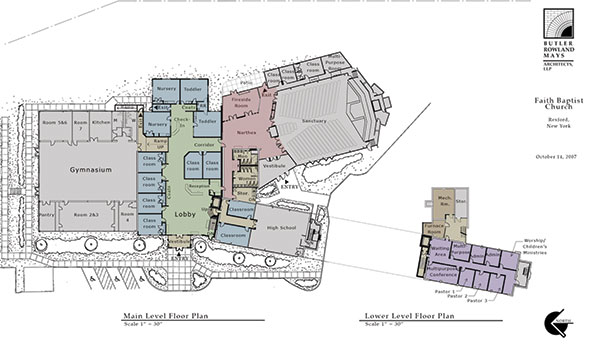 Faith Baptist Church floor plan