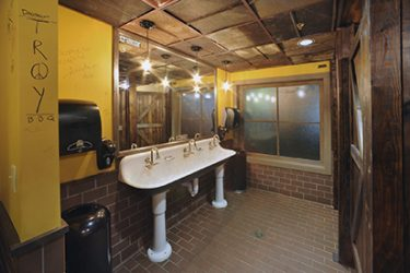 Dinosaur Bar-B-Que Restaurant Renovation - restroom